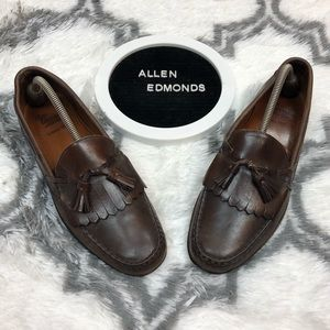 Allen Edmonds LOWRY HILL Brown Tassel Loafers 10.5